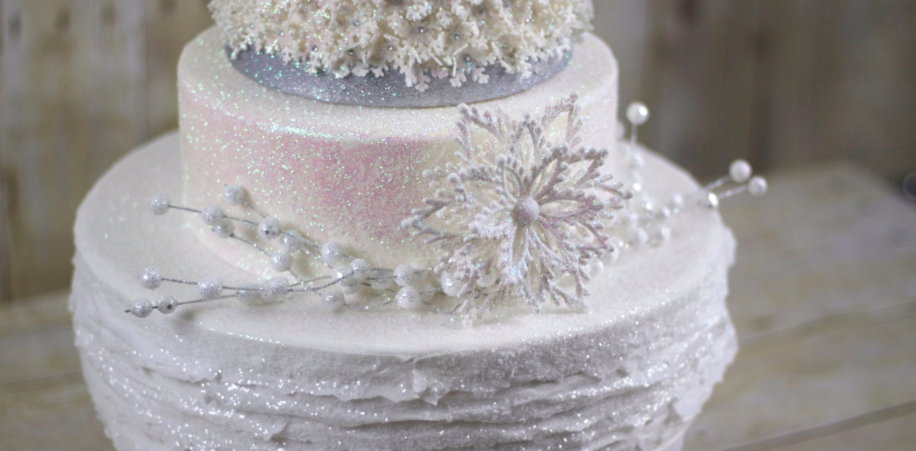 Sketch to Cake: Ginger Soave\'s White Christmas Wedding Cake ...