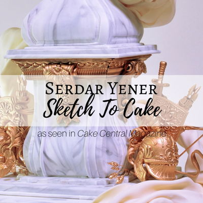 Sketch to Cake: Serdar Yener's Wedding Cake Inspired By Bernini's Louis XIV Bust on Cake Central
