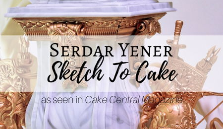 Sketch to Cake: Serdar Yener's Wedding Cake Inspired By Bernini's Louis XIV Bust