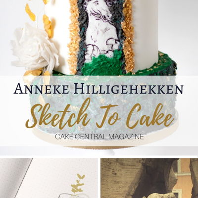 Sketch to Cake: Anneke Hilligehekken's Fontana dei Quattro Fiumi Bernini Inspired Wedding Cake on Cake Central
