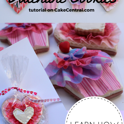 Wafer Paper Ruffle Valentine Cookie Tutorial on Cake Central