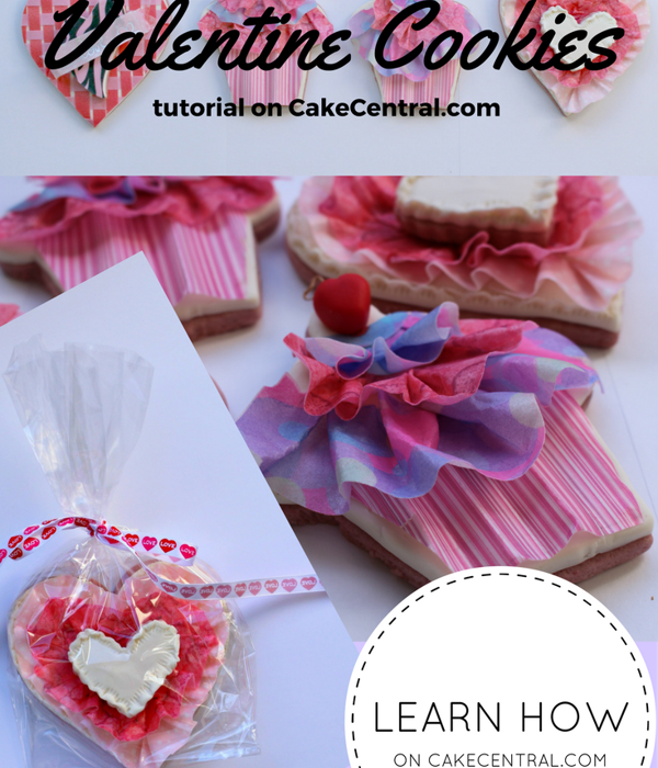 Wafer Paper Ruffle Valentine Cookie Tutorial