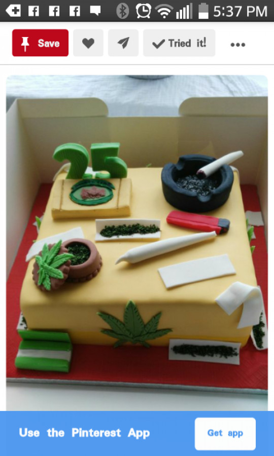 Marijuana Leaf Cake Tutorial