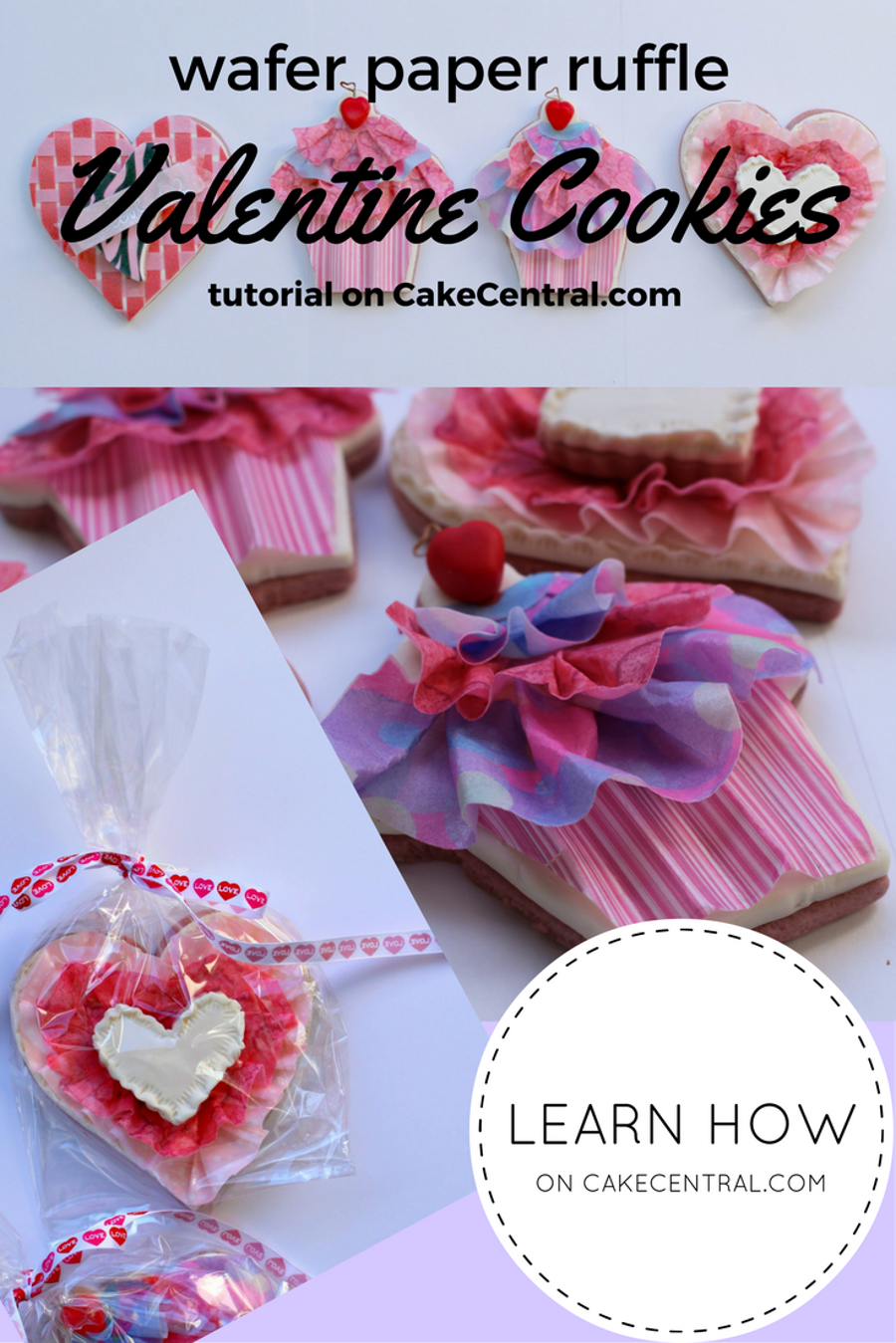 Wafer Paper Ruffle Valentine Cookie Tutorial Cakecentral Com