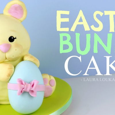 How to Make a 3D Easter Bunny Cake on Cake Central