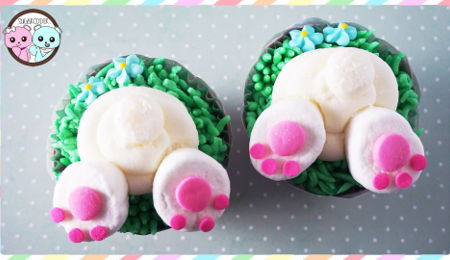 Bunny Feet Easter Cupcakes Tutorial