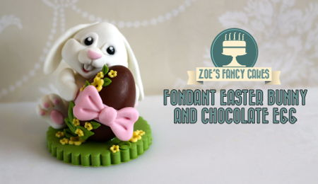 Fondant Easter Bunny Cake Topper with Chocolate Egg Tutorial
