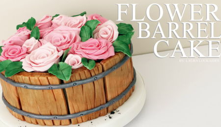 How to make a Flower Barrel Cake