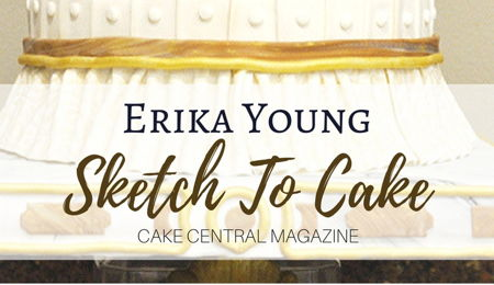 Sketch to Cake: Erika Young's Louis XIV Bernini Inspired Wedding Cake