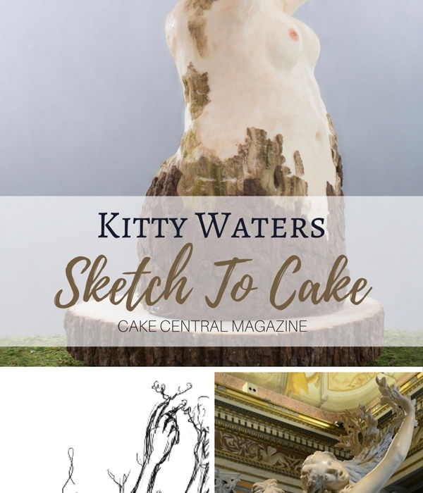 Sketch to Cake: Kitty Waters Bernini Inspired Apollo and...