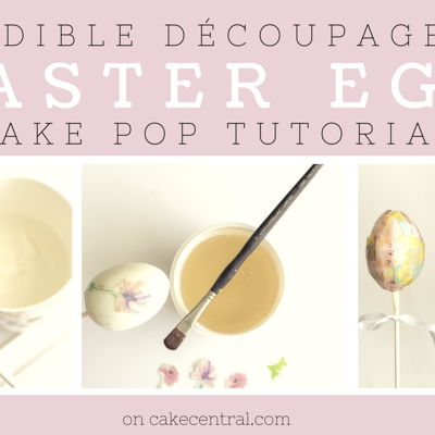 Edible Decoupage Easter Egg Cake Pop Tutorial on Cake Central