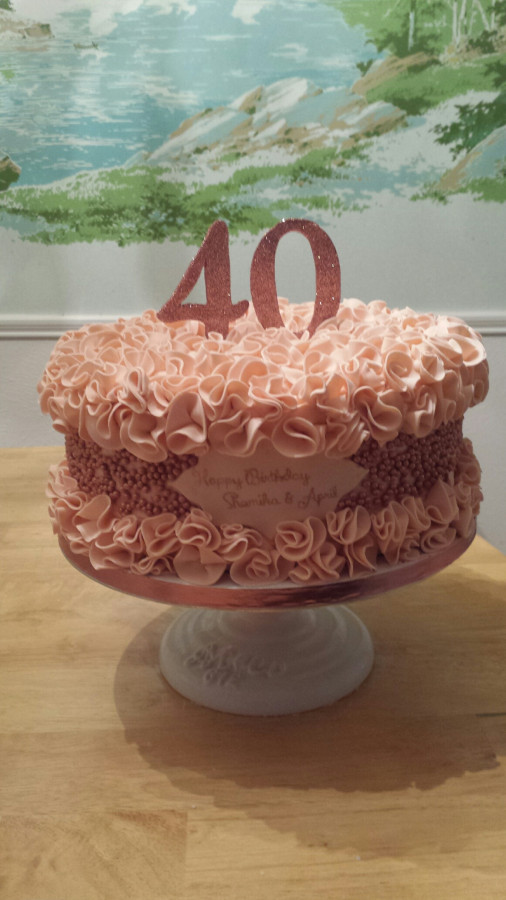 Applying Lots Of Pearls To Cake - CakeCentral com