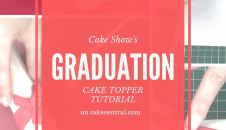 How To Make Fondant Graduation Cake Toppers