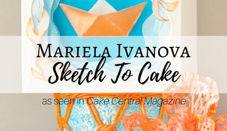 Sketch to Cake: Mariela Ivanova's Origami Paper Boat Inspired Wedding Cake