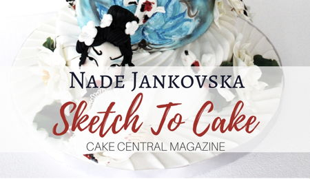 Sketch to Cake: Nade Jankovska's Origami Koi Fish Inspired Wedding Cake