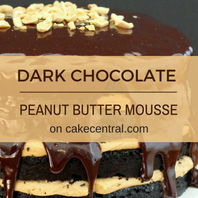 Dark Chocolate Cake With Peanut Butter Mousse on Cake Central