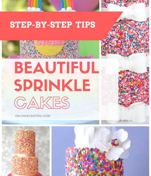 Beautiful Sprinkle Covered Cakes