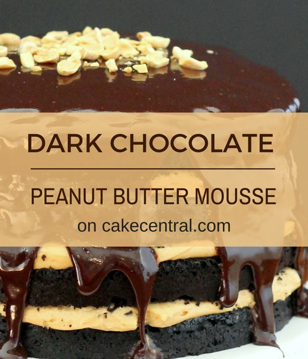 Dark Chocolate Cake With Peanut Butter Mousse