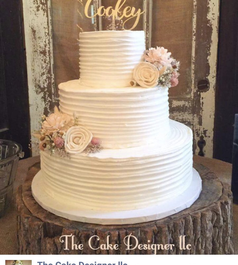 how to ice rustic wedding cake rustic buttercream wedding cake cakecentral 15756