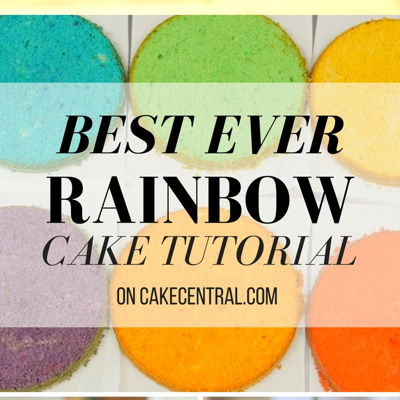 How to make the Best Ever Rainbow Cake on Cake Central