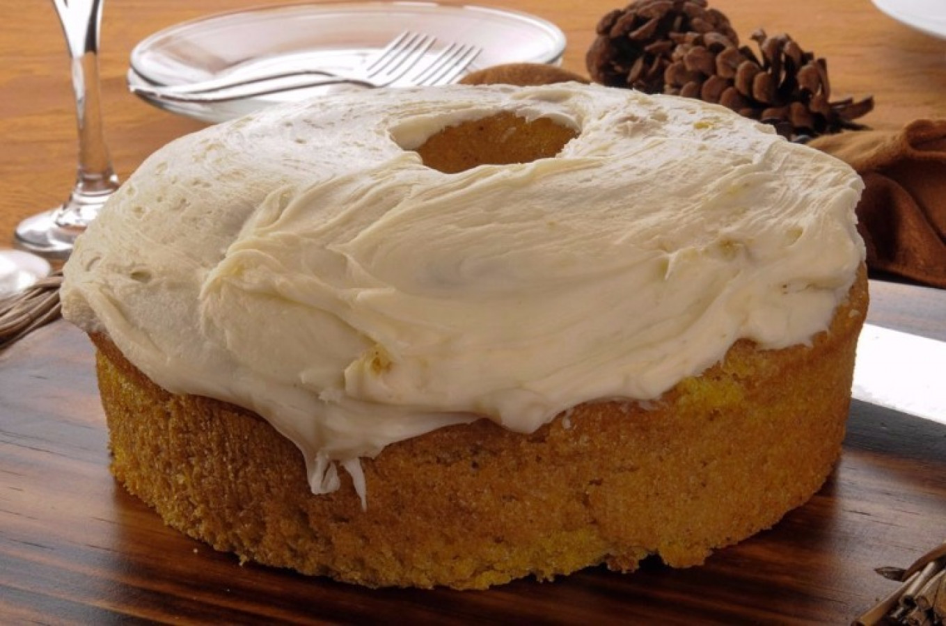 Pumpkin Buttermilk Cake and Cream Cheese Frosting Recipes ...