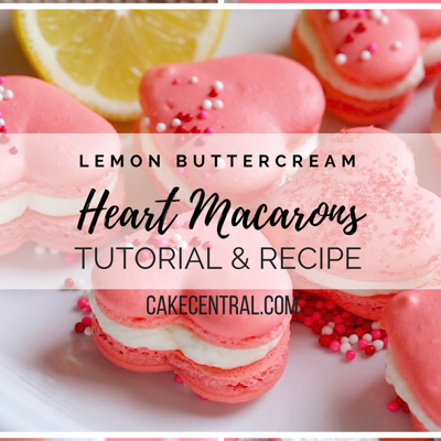 Valentine Heart Shaped Macaron with Lemon Buttercream Tutorial on Cake Central
