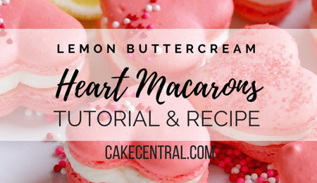 Valentine Heart Shaped Macaron with Lemon Buttercream Tutorial