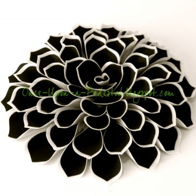 Fantasy Flower from Wafer Paper and Frosting Sheets on Cake Central