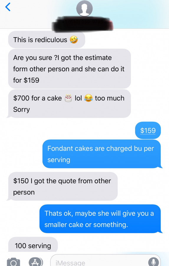 Price The Cake To Feed 100