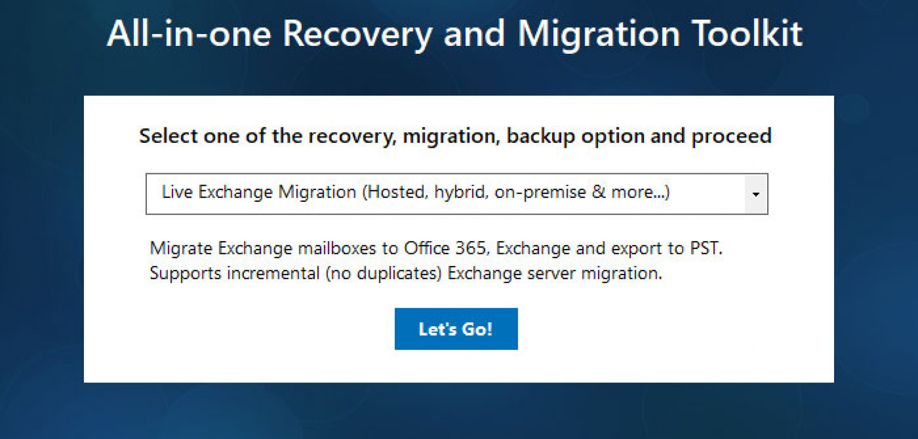 Exchange To Office 365 Migrator