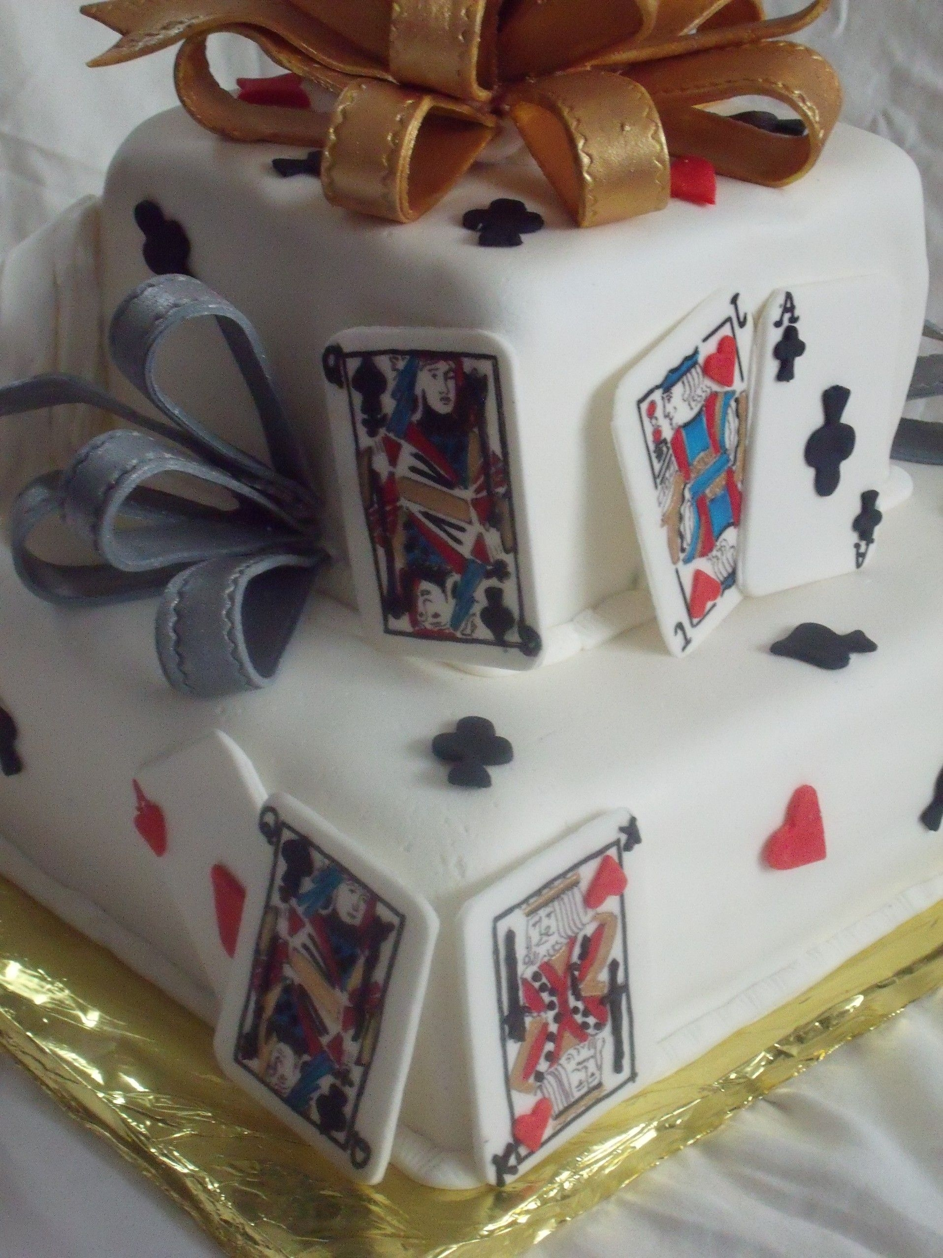 And  Playing Cards Cake Decorations