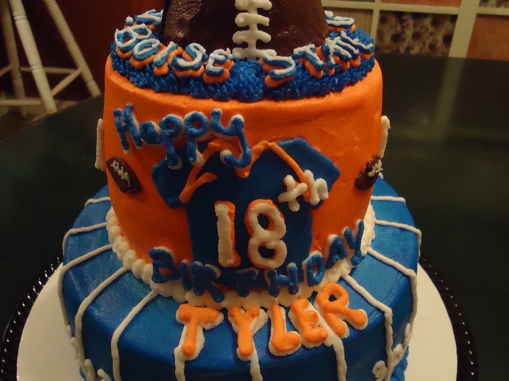 Boise State Broncos 18th Birthday Cake Cakecentral