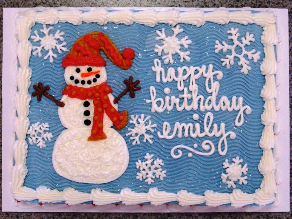 Wondrous Snowman And Snowflakes Birthday Cake Cakecentral Com Personalised Birthday Cards Petedlily Jamesorg
