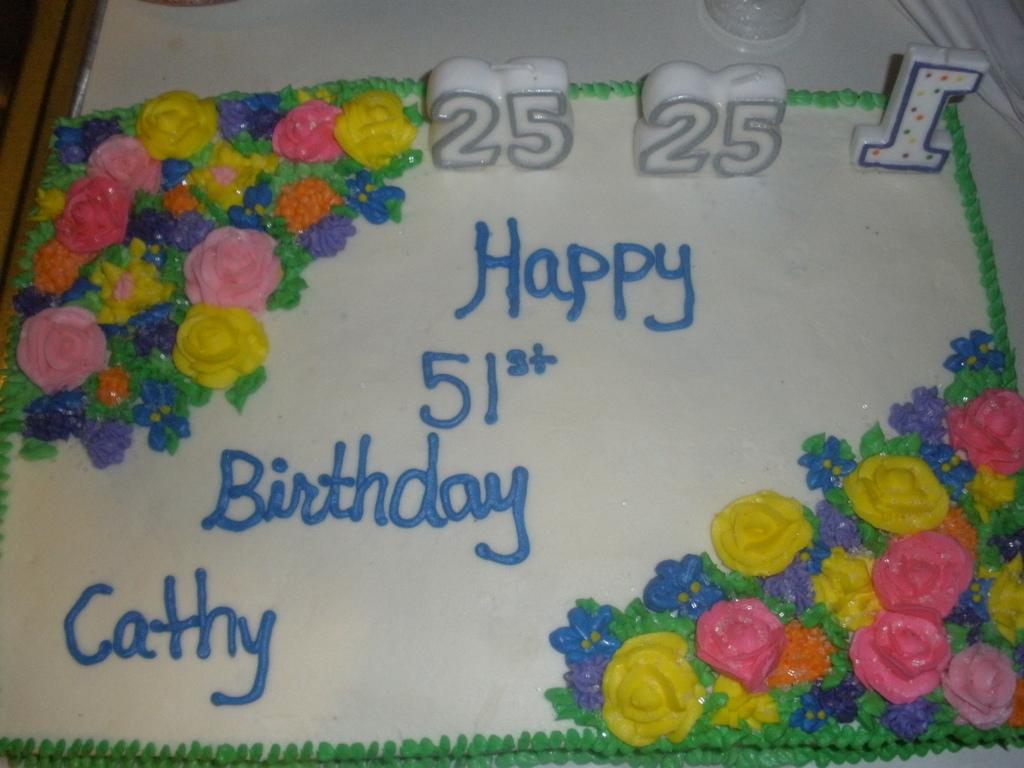 Pleasant 51St Flower Birthday Cake Cakecentral Com Funny Birthday Cards Online Inifofree Goldxyz