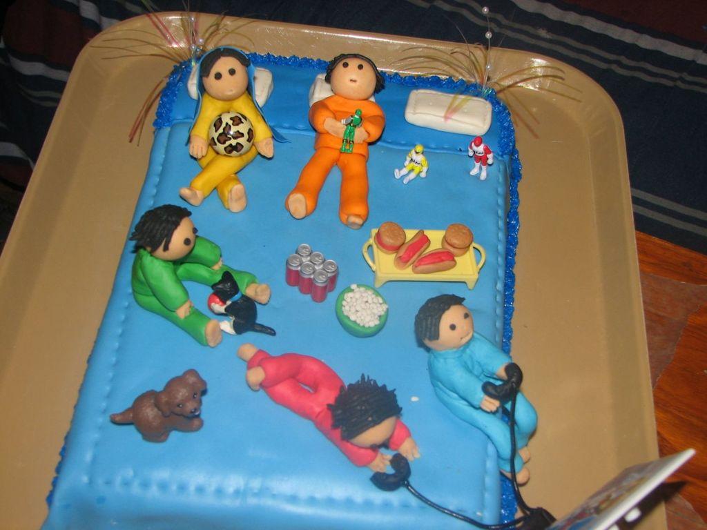 Surprising Sleepover Cake Cakecentral Com Funny Birthday Cards Online Inifodamsfinfo