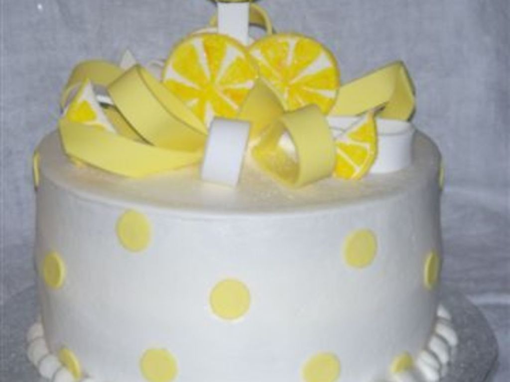 Lemon Drop Martini Birthday Cake - CakeCentral.com