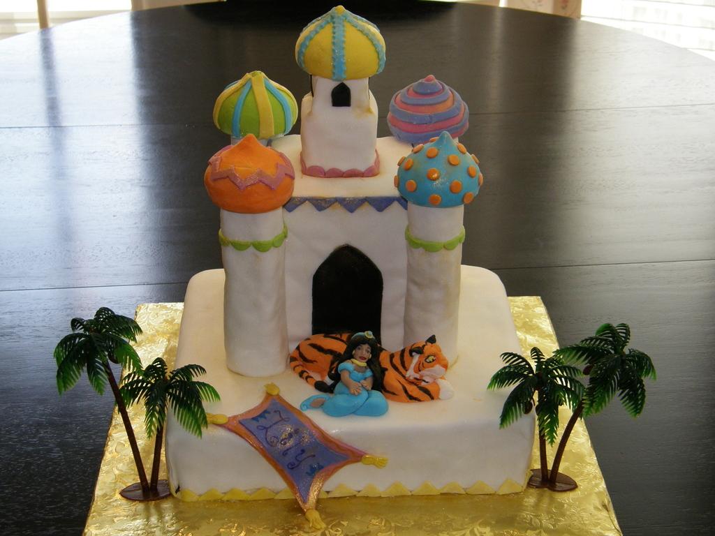 Princess Jasmine Castle Rahjah Aladdin Cake Cakecentral Com