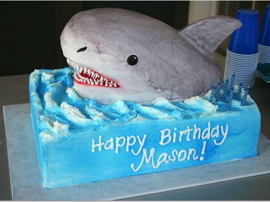 3-D Shark Cake - CakeCentral.com