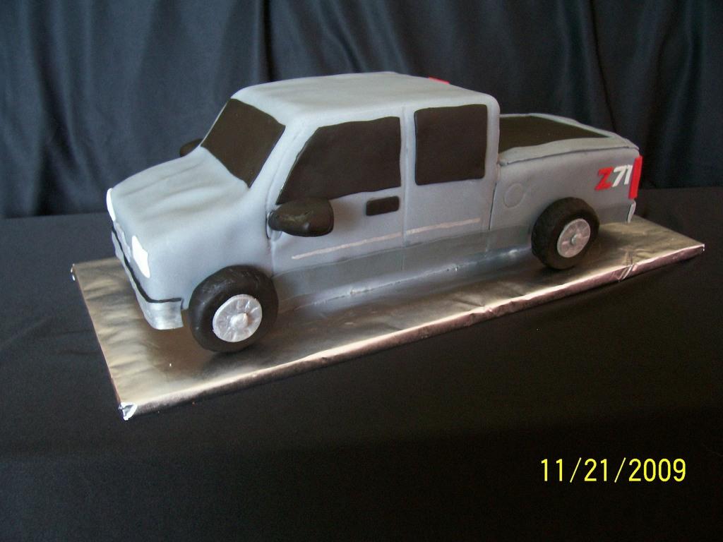 Silverado Extended Cab Pickup Cake - CakeCentral com