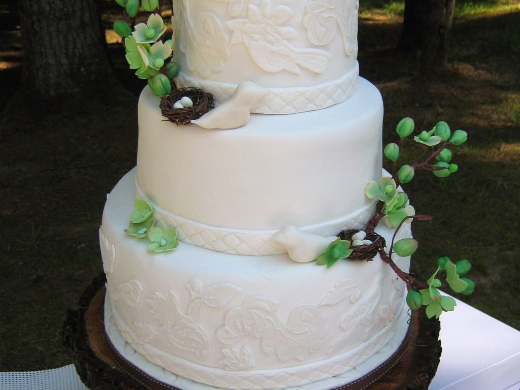 Birds Nest Wedding Cake - CakeCentral.com