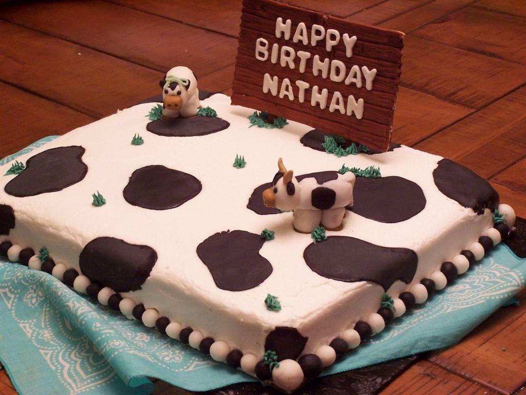 Super Cow Birthday Cake Cakecentral Com Birthday Cards Printable Riciscafe Filternl