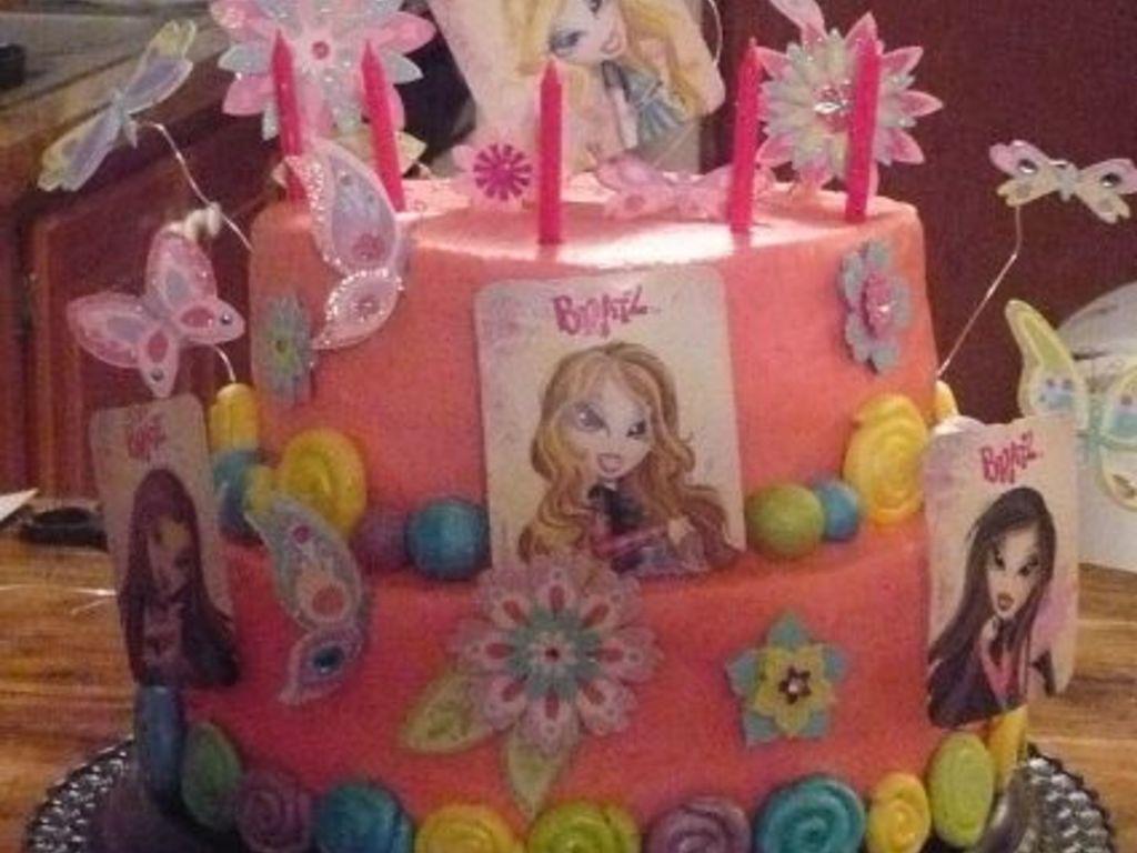 Fine Bratz Birthday Cake Cakecentral Com Personalised Birthday Cards Akebfashionlily Jamesorg