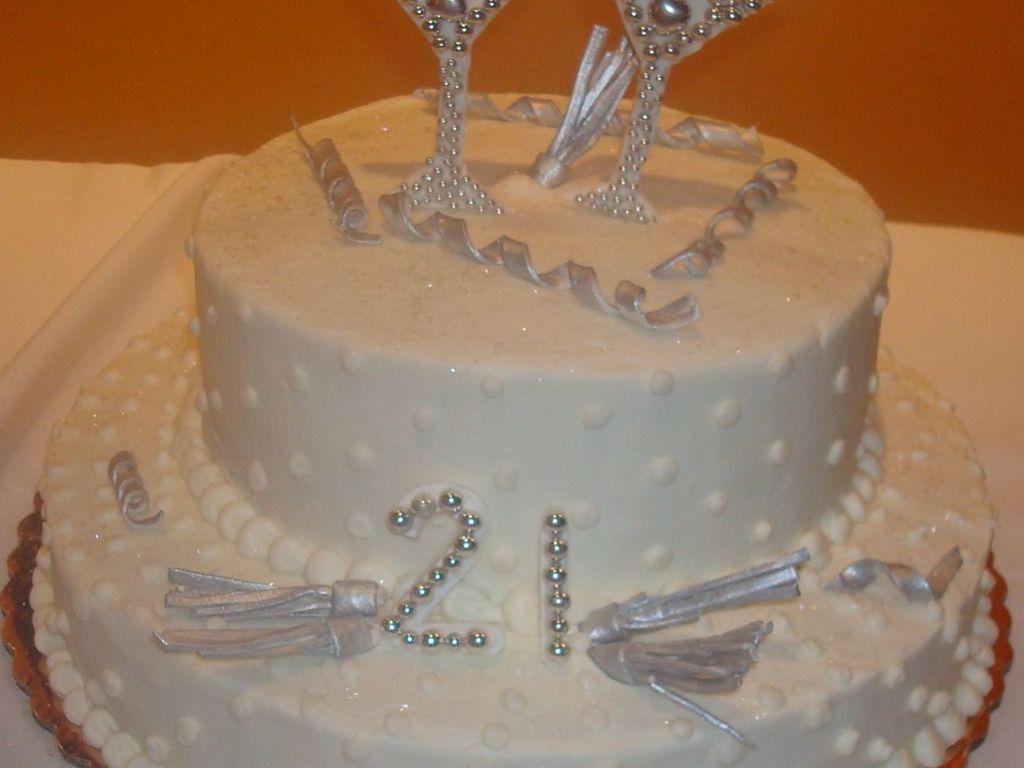 Astounding Martini Bling Bling 21St Birthday Cake Cakecentral Com Birthday Cards Printable Inklcafe Filternl