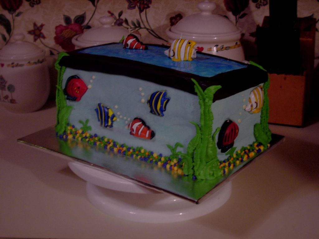 Brilliant Aquarium Birthday Cake Cakecentral Com Funny Birthday Cards Online Necthendildamsfinfo