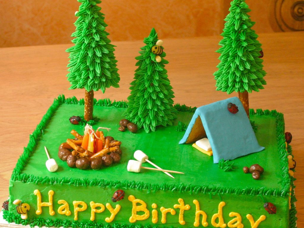 C&ing Cake & Camping tent Cake Decorating Photos