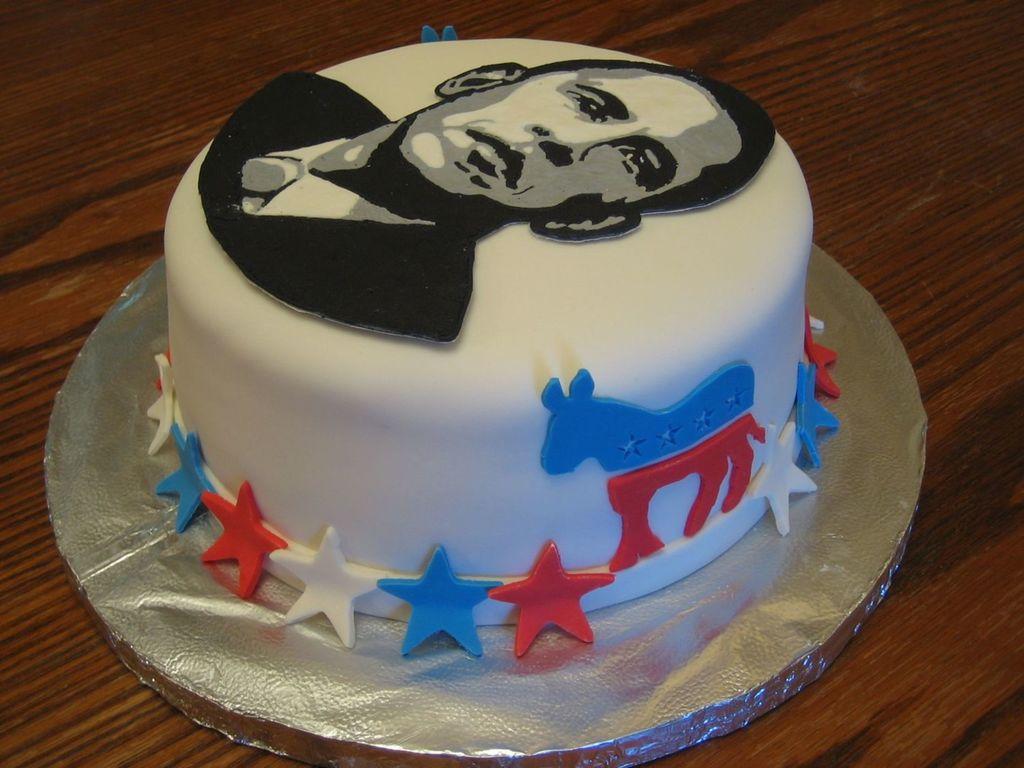 Tremendous Obama Birthday Cake Cakecentral Com Funny Birthday Cards Online Inifodamsfinfo