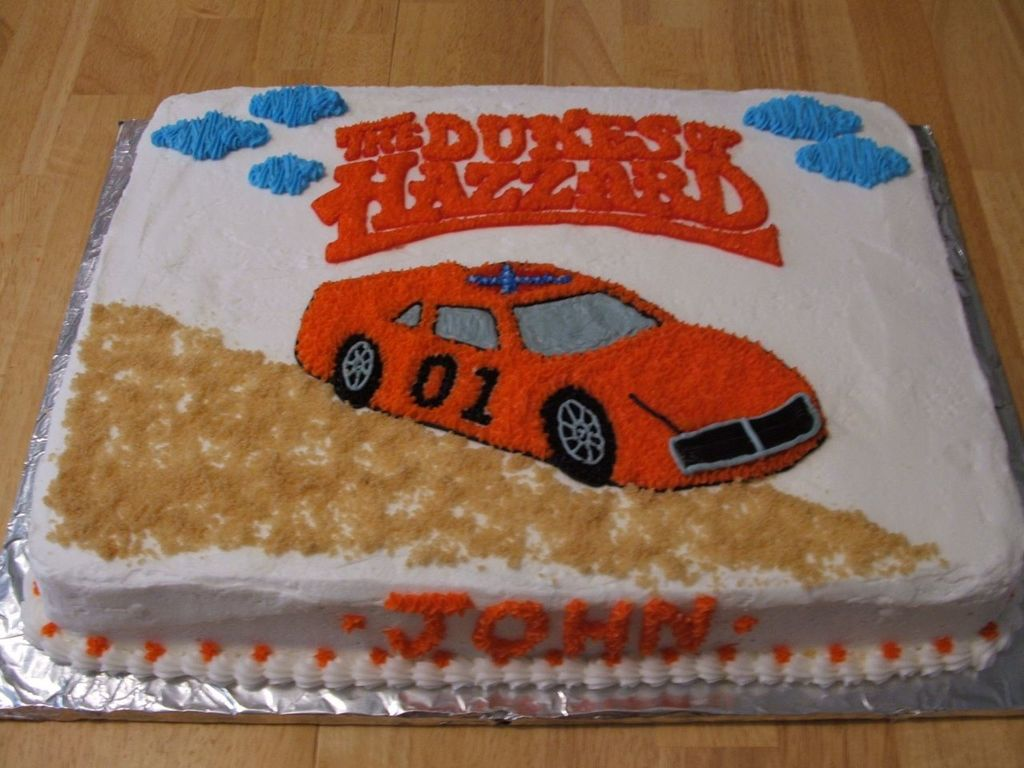 Super Dukes Of Hazzard Cakecentral Com Personalised Birthday Cards Arneslily Jamesorg
