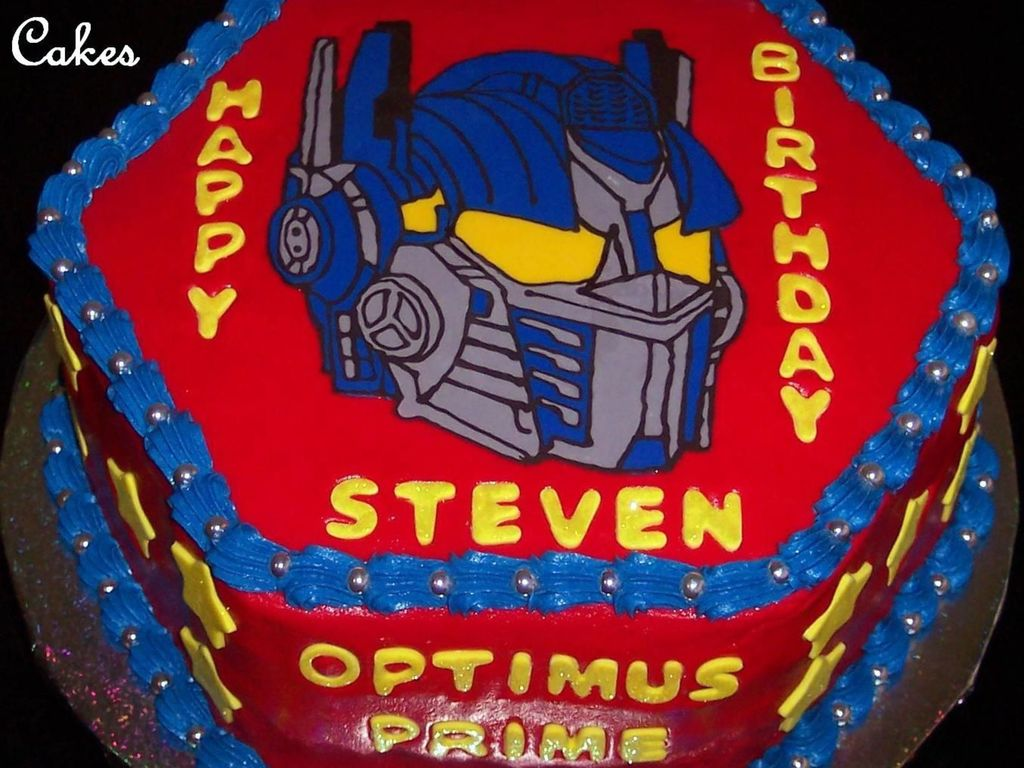 Groovy Optimus Prime Ct Cakecentral Com Personalised Birthday Cards Veneteletsinfo