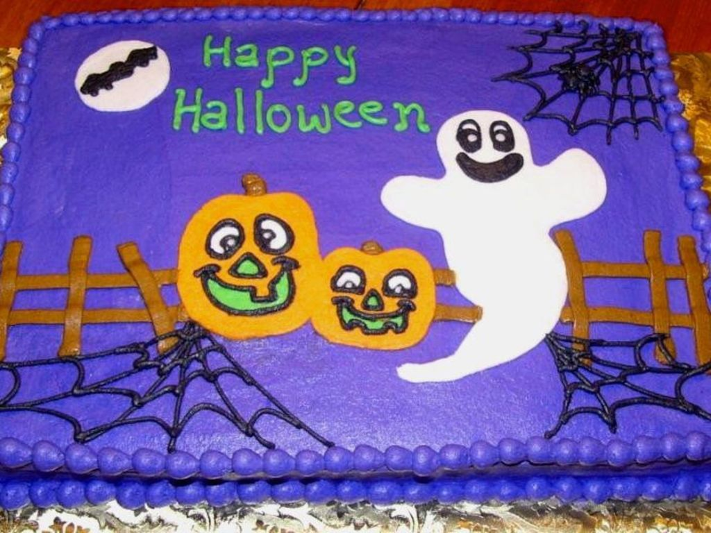 Cool Halloween Sheet Cake Cakecentral Com Funny Birthday Cards Online Inifofree Goldxyz