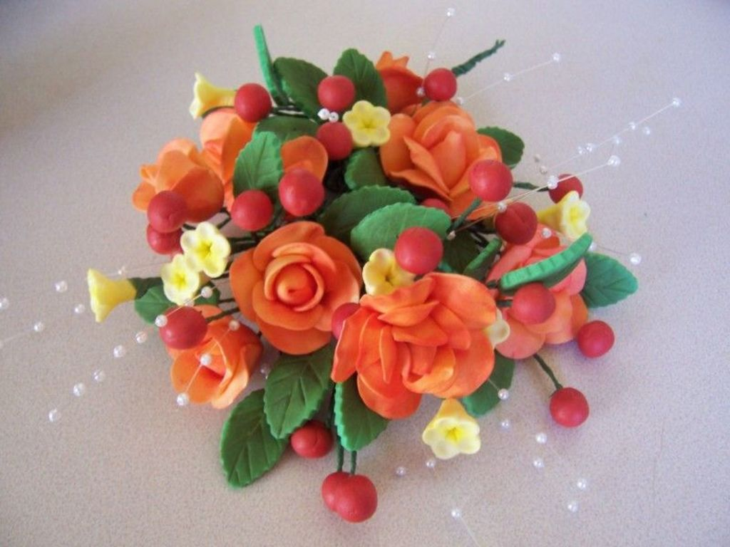 Fall Color Gum Paste Flowers - CakeCentral.com